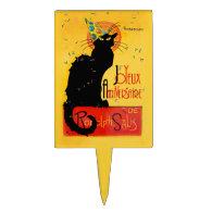 Le Chat Noir - Joyeux Anniversaire Cake Topper