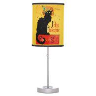 Le Chat Noir - Joyeux Anniversaire Desk Lamp