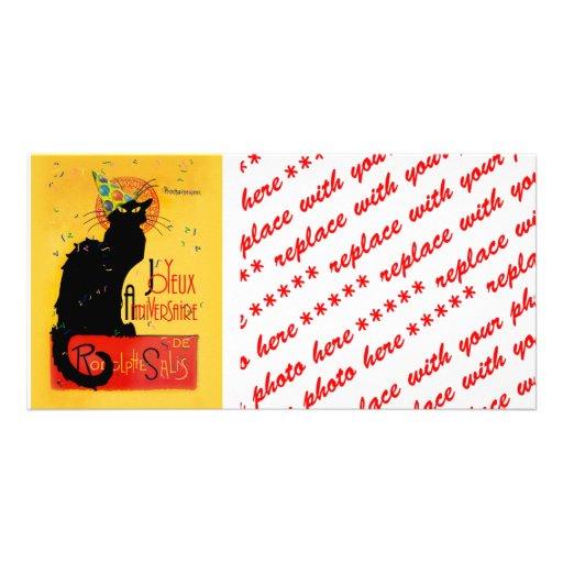 Le Chat Noir - Joyeux Anniversaire Picture Card