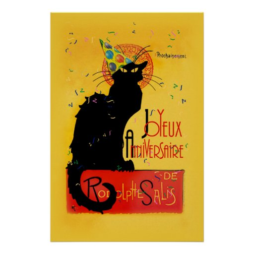 Le Chat Noir - Joyeux Anniversaire Póster