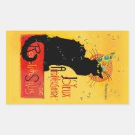 Le Chat Noir - Joyeux Anniversaire Rectangular Sticker