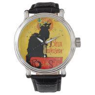 Le Chat Noir - Joyeux Anniversaire Wrist Watches