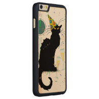 Le Chat Noir New Years Carved® Maple iPhone 6 Plus Slim Case