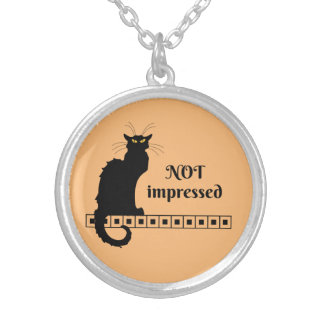 Le Chat Noir Not Impressed Silver Plated Necklace