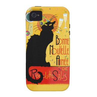 Le Chat Noir - nouvelle Année de Bonne Case-Mate iPhone 4 Carcasas