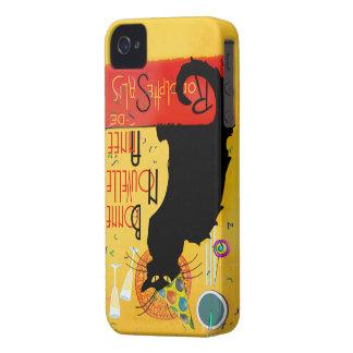 Le Chat Noir - nouvelle Année de Bonne Case-Mate iPhone 4 Carcasa
