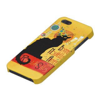 Le Chat Noir - nouvelle Année de Bonne iPhone 5 Cárcasas