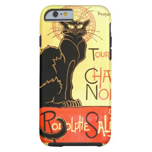 Le chat noir,Original billboard Tough iPhone 6 Case