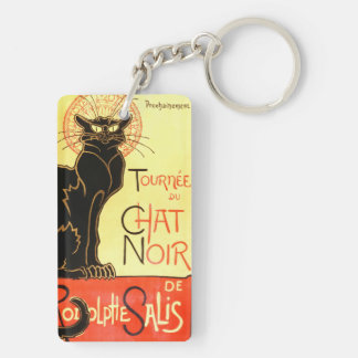 Le chat noir,Original billboard Double-Sided Rectangular Acrylic Keychain