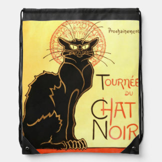 Le chat noir,Original billboard Drawstring Bag