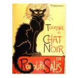 Le chat noir,Original billboard Postcard
