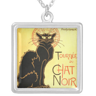 Le chat noir,Original billboard Silver Plated Necklace