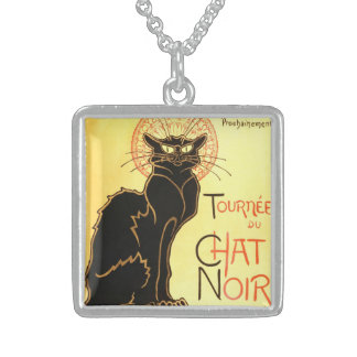 Le chat noir,Original billboard Sterling Silver Necklace