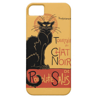 Le Chat Noir por Steinlen iPhone 5 Carcasas