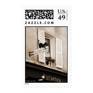 Le Chat Noir Postage Stamp