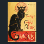 "Le Chat Noir Print<br><div class=""desc"">Le Chat Noir print. Cabaret poster from 1896. Theophile Steinlen's Le Chat Noir poster is one of the most iconic art nouveau advertisements of all time. The work features a black cat standing proudly with yellow eyes over a yellow background beside the words Tournee de Chat Noir. The work was...</div>"