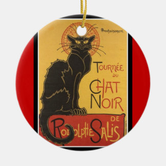 LE CHAT NOIR PRINT CERAMIC ORNAMENT