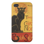 LE CHAT NOIR PRINT COVER FOR iPhone 4