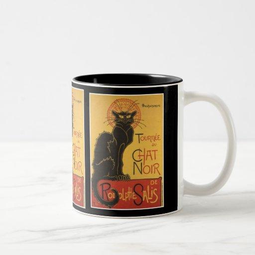 LE CHAT NOIR PRINT COFFEE MUG