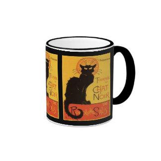 Le Chat Noir Ringer Coffee Mug