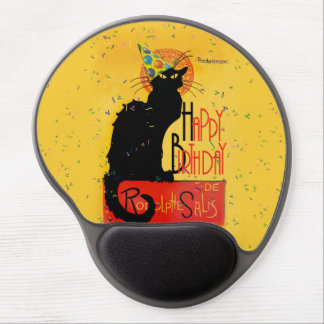 Le Chat Noir - saludos del feliz cumpleaños Alfombrillas Con Gel