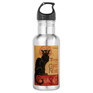 Le chat Noir - Steinlen Stainless Steel Water Bottle