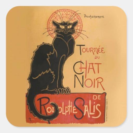 Le Chat Noir Square Stickers