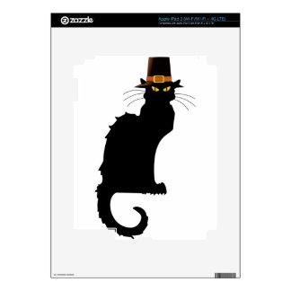 Le Chat Noir Thanksgiving Pilgrim Hat iPad 3 Decal