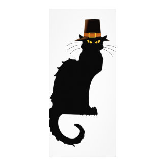 Le Chat Noir Thanksgiving Pilgrim Hat Rack Card