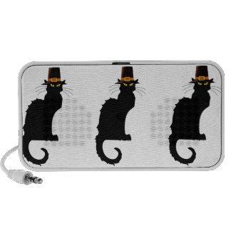 Le Chat Noir Thanksgiving Pilgrim Hat Laptop Speakers