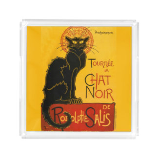 Le Chat Noir The Black Cat Acrylic Tray