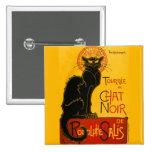 Le Chat Noir The Black Cat Art Nouveau Vintage 2 Inch Square Button