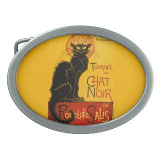Le Chat Noir The Black Cat Art Nouveau Vintage Belt Buckle