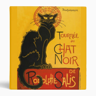 Le Chat Noir The Black Cat Art Nouveau Vintage Binder