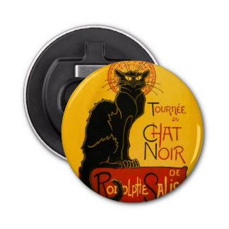 Le Chat Noir The Black Cat Art Nouveau Vintage Bottle Opener