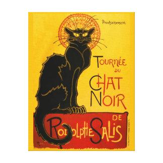 Le Chat Noir The Black Cat Art Nouveau Vintage Canvas Print