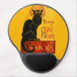 Le Chat Noir The Black Cat Art Nouveau Vintage Gel Mouse Pad