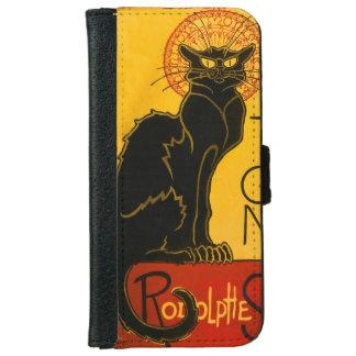 Le Chat Noir The Black Cat Art Nouveau Vintage iPhone 6/6s Wallet Case