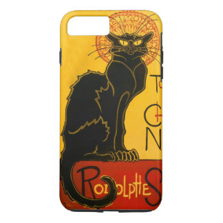 Le Chat Noir The Black Cat Art Nouveau Vintage iPhone 8 Plus/7 Plus Case