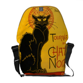 Le Chat Noir The Black Cat Art Nouveau Vintage Messenger Bag