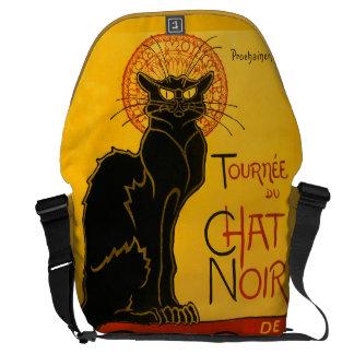 Le Chat Noir The Black Cat Art Nouveau Vintage Messenger Bag
