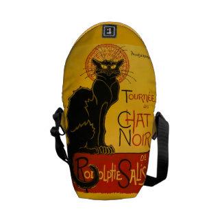 Le Chat Noir The Black Cat Art Nouveau Vintage Messenger Bags