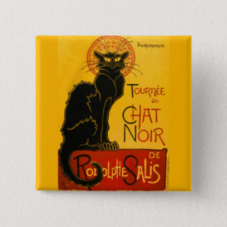 Le Chat Noir The Black Cat Art Nouveau Vintage Pinback Button