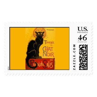 Le Chat Noir The Black Cat Art Nouveau Vintage Postage Stamp