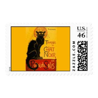 Le Chat Noir The Black Cat Art Nouveau Vintage Stamp