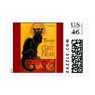 Le Chat Noir The Black Cat Art Nouveau Vintage Postage Stamps