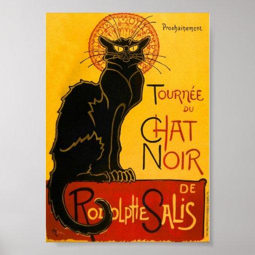 Le Chat Noir The Black Cat Art Nouveau Vintage Poster | Zazzle