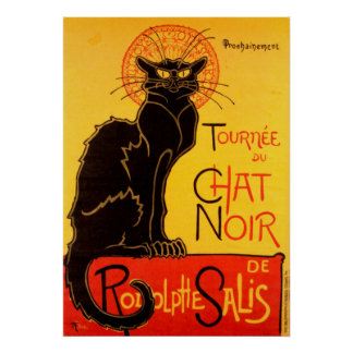 Le Chat Noir The Black Cat Art Nouveau Vintage Poster