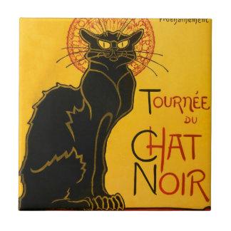 Le Chat Noir The Black Cat Art Nouveau Vintage Tiles