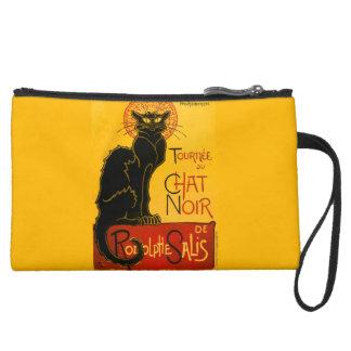 Le Chat Noir The Black Cat Art Nouveau Vintage Wristlet Clutch